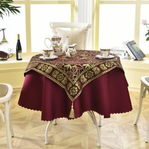 Latest 2 Pcs/set Round 140cm Luxury Sequin Outdoor Table Linens Fashion Crochet
