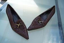 Paul Green Damen Schuhe Pumps vintage Leder handmade Gr.6 / 39,5 braun #2k