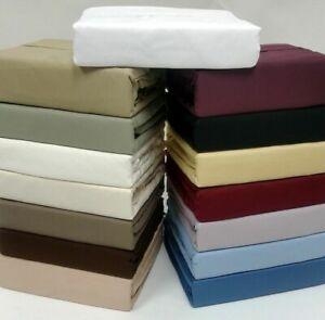 1000 TC Soft Egyptian Cotton Deep Pocket Bedding Items AU Single Solid Colors