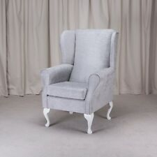 Westoe Armchair in a Oleandro Silver Fabric - Oleandro Silver OLE1428