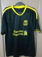 "Liverpool FC ""Standard Chartered""  Soccer Jersey Size L #30 black"