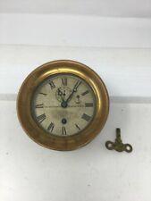 Chelsea Brass Ship Clock 49059 1905-1909 Made in American Brass Maritime Clock