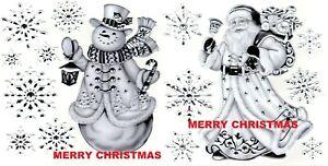 Christmas Metallic Embossed Glitter Window Stickers Decoration Snowman