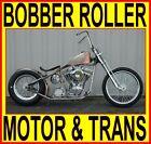 "100"" MOTOR & TRANSMISSION RIGID BOBBER CHOPPER ROLLING CHASSIS COMPLETE BIKE KIT"
