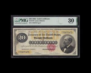 BEAUTIFUL 1882 $20 GOLD CERTIFICATE PMG VERY FINE 30