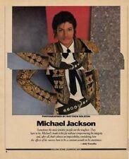 Michael Jackson Magazine Photo 1984