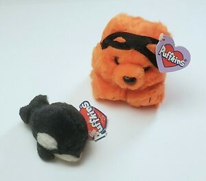 Vintage Puffkins Plush Lot Toby & Halloween Trick Limited Edition