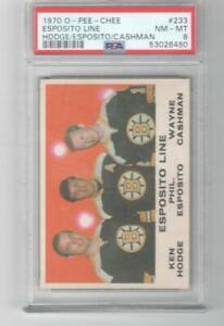 1970 OPC O-Pee-Chee # 233 PSA 8 Esposito Line Boston Bruins