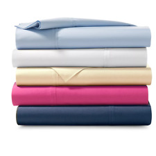RALPH LAUREN Palmer Percale 464TC Cotton KING Fitted Sheet Oxford Blue $130