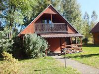 Gutschein für 5 Tage Urlaub in Polen / Bronkow : Blockhütte m. Kamin & Frühstück