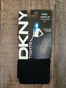 DKNY Opaque Tight Control Top NavyTights 40 Denier 00412 Size Medium