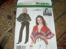 🌺  SIMPLICITY #3830 - LADIES FRONT TIE WRAP - JACKET & PANTS PATTERN.  6-22 FF