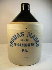 Antique Advertising Jug Thomas Maher Shamokin PA. # 108