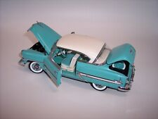 FRANKLIN MINT 1/24 1954 CHEVROLET BEL AIR TURQUOISE with WHITE HARDTOP MINT