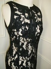 Beautiful STUNNING Vintage 1950/60's BLACK SILK LACE DRESS size 12-14 .SPECIAL!!