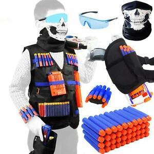 Tactical Vest Kit + Accessories For Nerf Guns Kids N-elite Series + Foam Darts