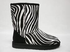 NIB UGG AUSTRALIA CLASSIC SHORT EXOTIC ZEBRA BOOTS 8 WOMENS #1002790 RARE & HTF