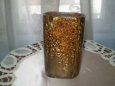 OLD VASE   LAVA FLOW CATALIN   GOLD   chocolate SIZE HEIGHT 6 . 2 ''