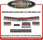 Mercury Alpha One 5.7 Litre ,  7 Piece Reproduction Decal Kit  Mercruiser