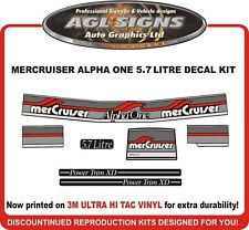 Mercury Alpha One 5.7 Litre ,  7 Piece Decal Kit  Mercruiser reproductions
