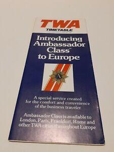 ⭐ Vintage Travel Brochure TWA Airlines System Timetable June 5 1980!.