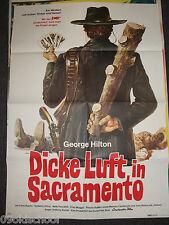 Dicke Luft in Sacramento - KINOPLAKAT A1 - George Hilton - ITALO - WESTERN