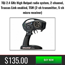 Traxxas 2ch TQi Radio Transmitter Remote TSM Receiver 4x4 Rustler VXL 2.4GHz New