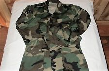 ARMY Woodland Camo WC BDU Combat Coat 100% Cotton Extra Small Regular Jacket XSR