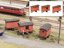 MU N-L00261 - Bauwagen Set rot 3-teilig - Spur N - NEU