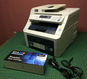 Brother MFC-9010CN Color All in One LED Laser Printer 2400 DPI with extra toner