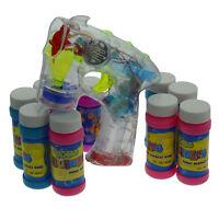 Bubble Gun Seifenblasenpistole LED/ Sound mit 10x Seifenbehälter Seifenwasser