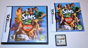 THE SIMS 2: PETS NINTENDO DS GAME 3DS 2DS LITE DSI CIB COMPLETE W/ MANUAL CASE