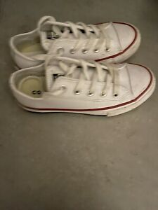 White Leather Converse Size UK 11