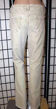 BANDOLINO BLU Women's Size 12 Tan Brown Boot Cut Corduroy Jeans Pants EUC