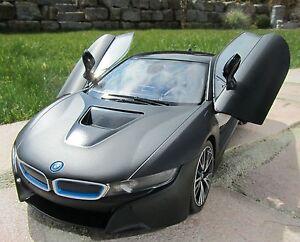 """RC BMW i8 mit Flügeltüren Schwarz 27Mhz  34cm """"Top Qualität"""" 404570"""