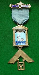 Masonic SILVER  PAST MASTER Jewel   OLD WINDSOR  LODGE No.8060  BERKS Province