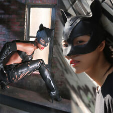 Catwoman Mask Latex Halfface Mask Batman Cosplay Helmet Halloween Cat Mask Women