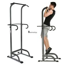 New Chin Up Stand Pull Up Bar Dip Power Tower Home Gym Fitness Workout