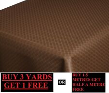 Premium Thick Brown Table Protector Felt Backing Heat Resistant Fabric Material