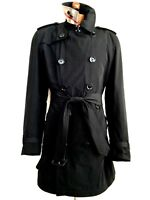 Vtg Mens Short Double Breasted BURBERRY BRIT TRENCH COAT Jacket Mac Rain Over