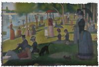 GEORGES SEURAT A SUNDAY ON LA GRANDE LIMITED EDITION ART PRINT 24X36 landscape