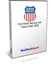 Union Pacific Fort Worth Division track chart 2002 - PDF on CD - RailfanDepot