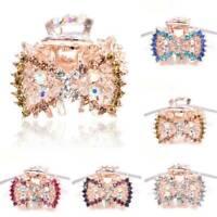 Jewelry Rhinestone Claw Barrette Crystal Hairpins Mini Crown Hair Clip P