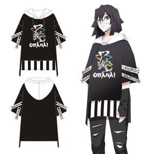 Anime Demon Slayer Kimetsu no Yaiba T-shirt Iguro Obanai Cosplay Hooded Shirt