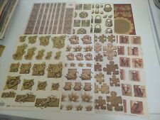 8X CUT SHEETS FROM TBZ FOR MAKING CARDS WITH RELIEF/GOLD (A6289)