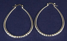 Women's 925 Silver Plated Oval Hoop Earrings Jewellery