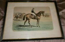 Lithographie Cheval SALVATOR & Jockey - Derby Chantilly & Grand Prix Paris 1875