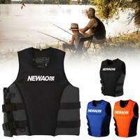 Adults Life Jacket Aid Vest Kayak Ski Buoyancy Fishing Sail Boat Watersport Y2Y0