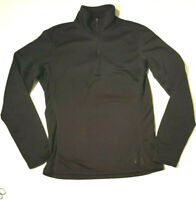 REI Womens Size Medium Black 1/4 Zip Pullover Base Layer Top Long Sleeve
