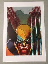 "Wolverine X-Men Logan Fan Art Print 13""x 19"" Signed Eddie Nunez Marvel Comics"